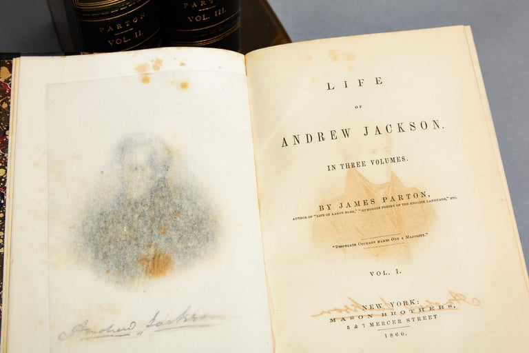 Leather James Parton, Life of Andrew Jackson For Sale
