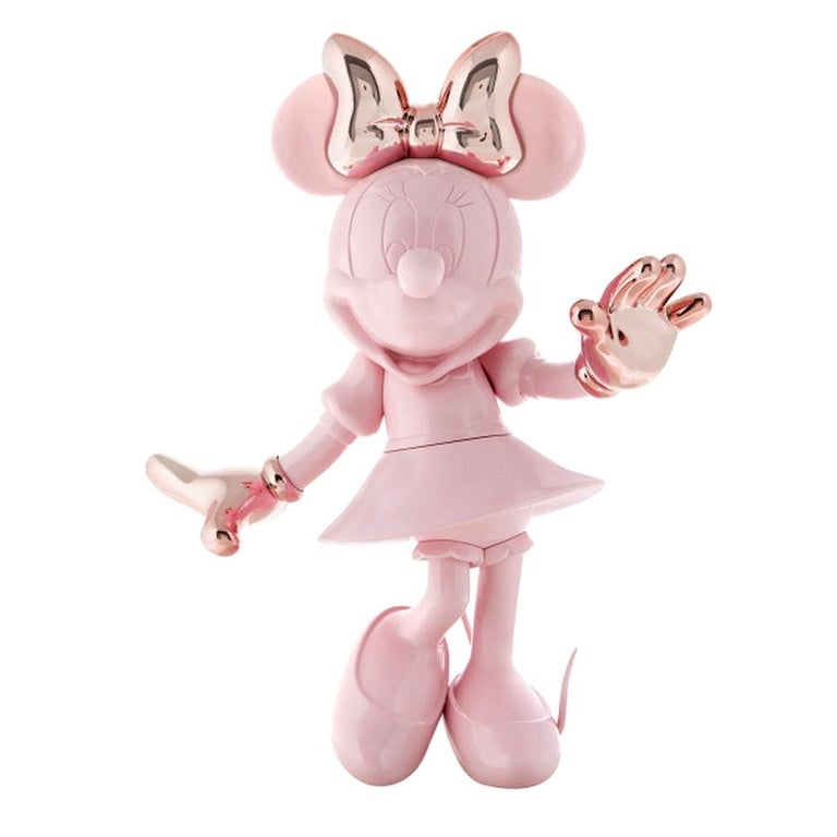 In Stock in Los Angeles, Life-Size 4.6 Ft Tall Glossy Pink Minnie, Pop Sculpture In New Condition For Sale In Beverly Hills, CA