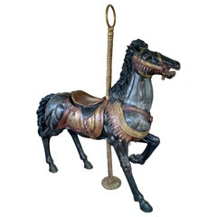 Life Size Antique Bronze Carousel Horse Sculpture