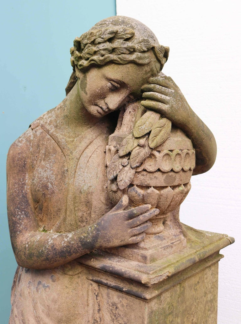 European Life-Size Antique Classical Stone Statue For Sale