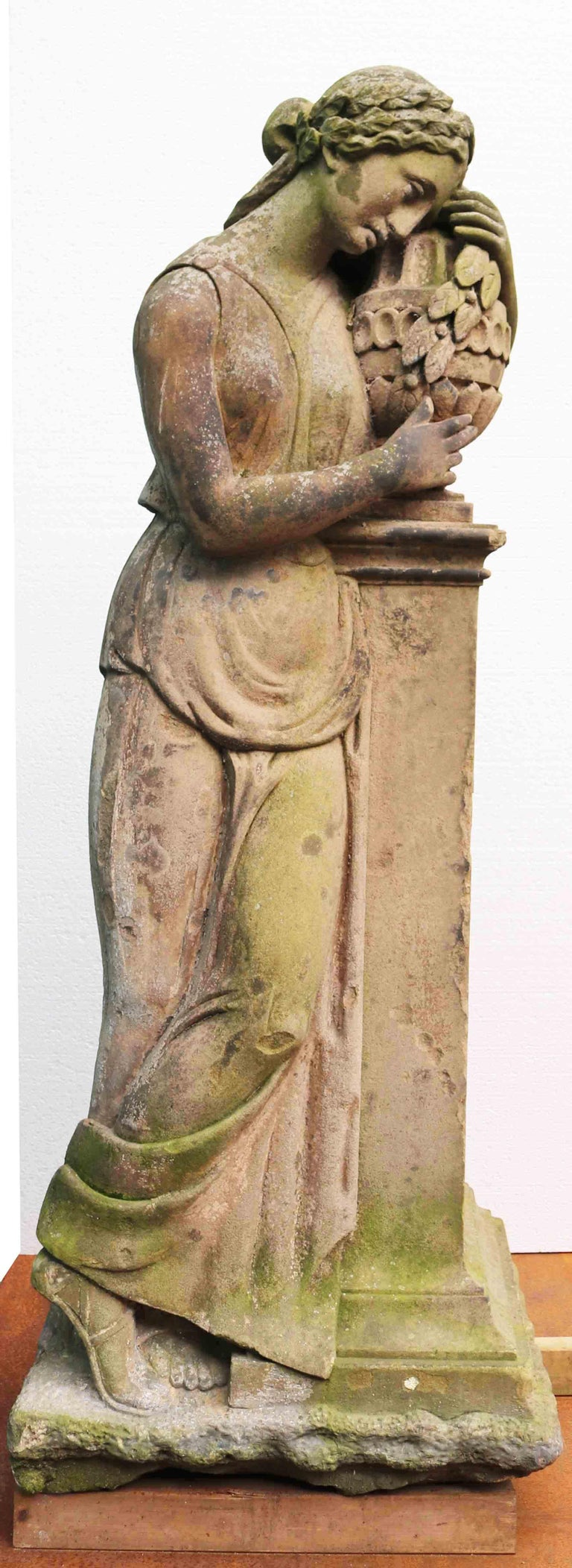 Life-Size Antique Classical Stone Statue In Fair Condition For Sale In Wormelow, Herefordshire