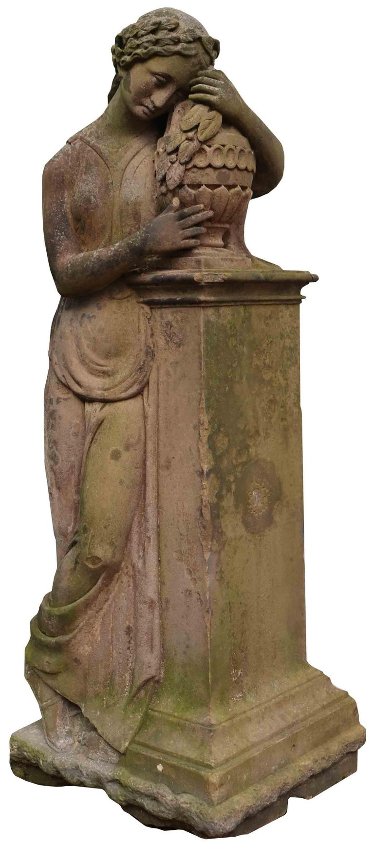 Life-Size Antique Classical Stone Statue For Sale 1