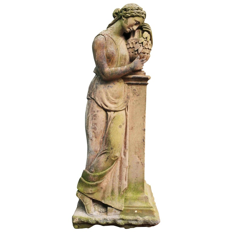 Life-Size Antique Classical Stone Statue For Sale