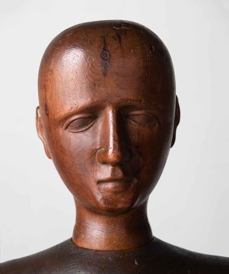 Carved Life-Size Artist Mannequin, Italy, circa 1890