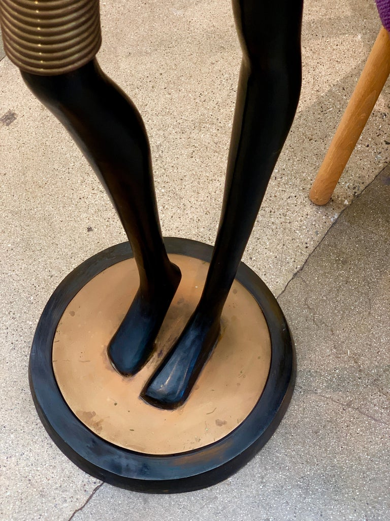 Life Size Bronze African Woman in the Style of Hagenauer For Sale 1