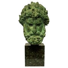 Life-Size Bronze Head of Zeus