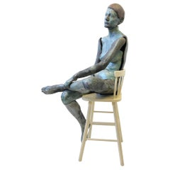 Life-Size Ceramic Female Sculpture by Eva Stettner