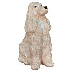 Life Size Ceramic Spaniel Dog Statue