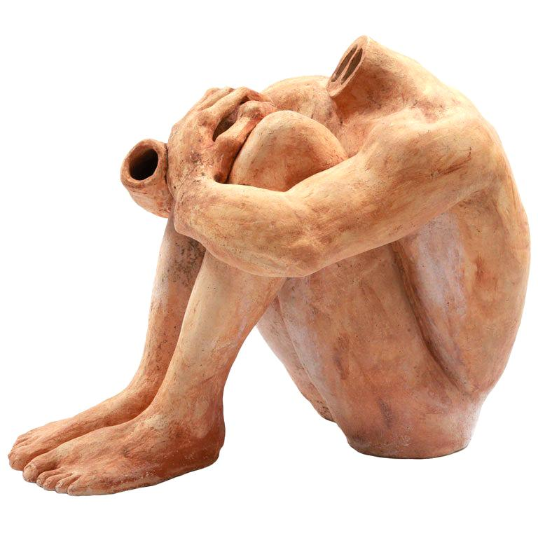 Massive Figural Ceramic Sculpture For Sale