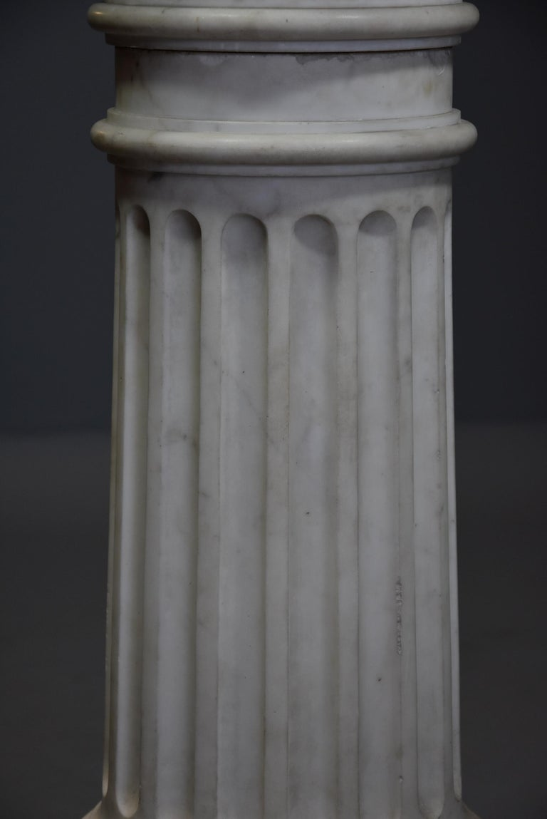 Life-Size Finely Carved Carrara Marble Bust of the Roman Goddess, Ceres For Sale 7