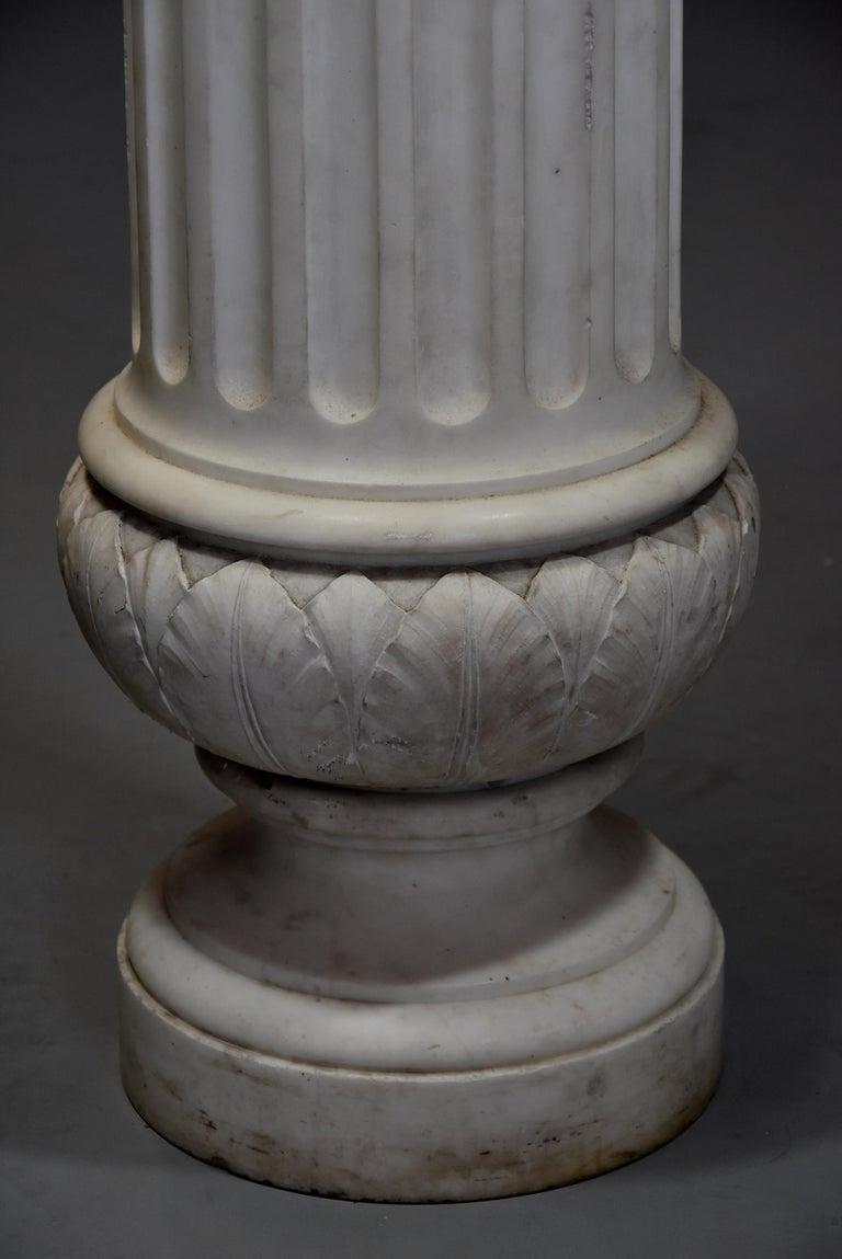 Life-Size Finely Carved Carrara Marble Bust of the Roman Goddess, Ceres For Sale 8