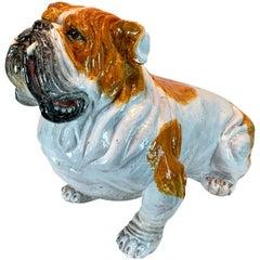 Life-Size Italian Majolica Bull Dog