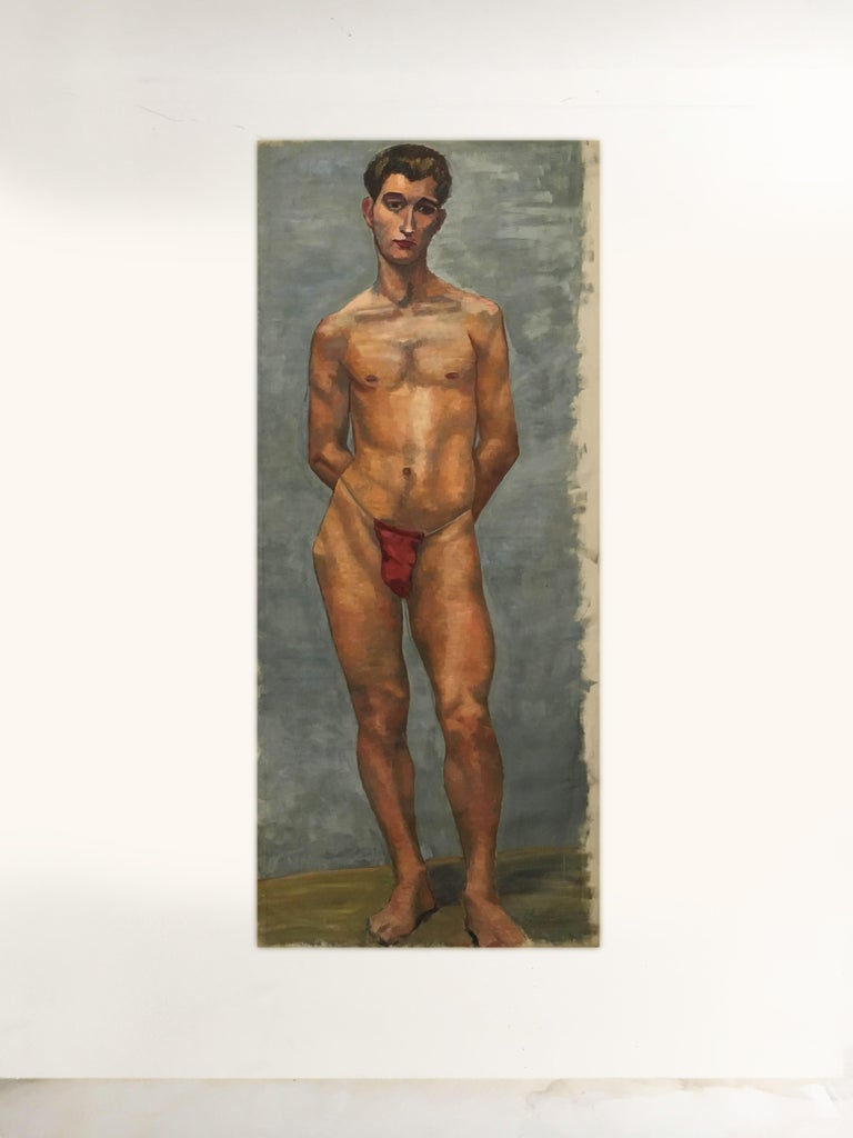 Life-size male painting, Vienna 1933.