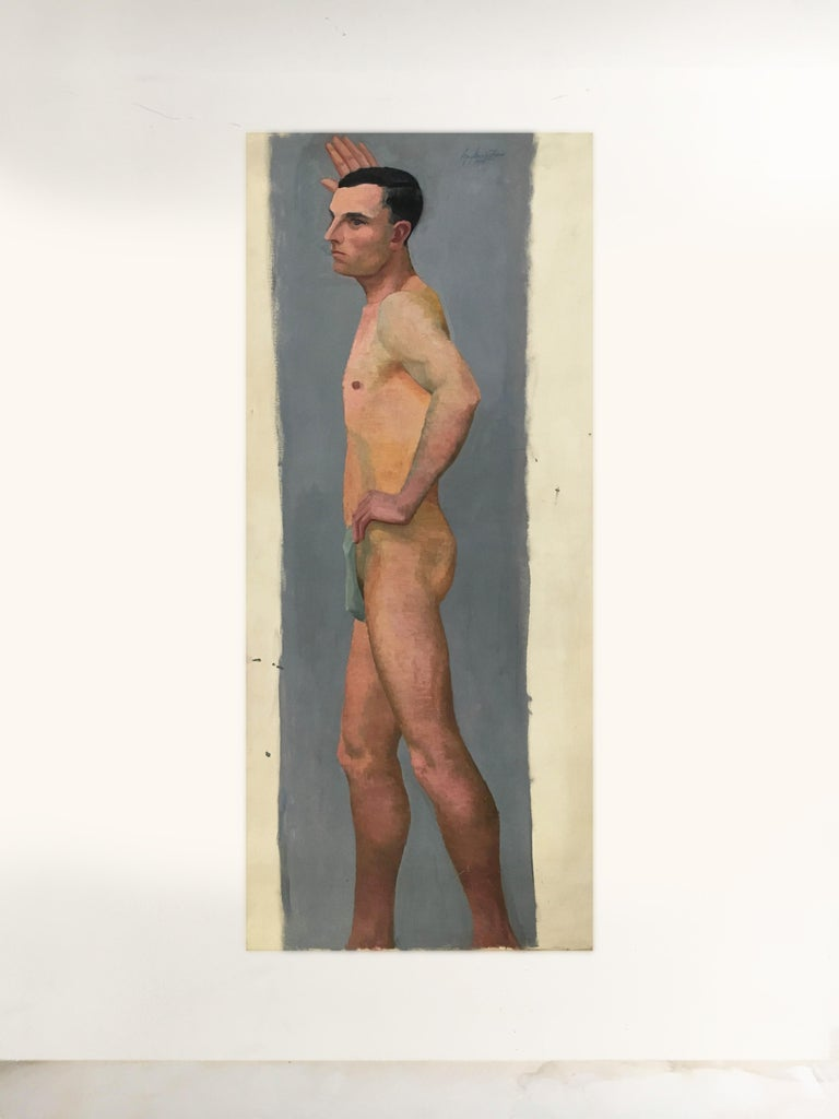 Other Life Size Male Painting, Vienna 1933 For Sale