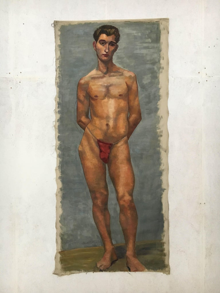 Other Life-Size Male Painting, Vienna, 1933 For Sale
