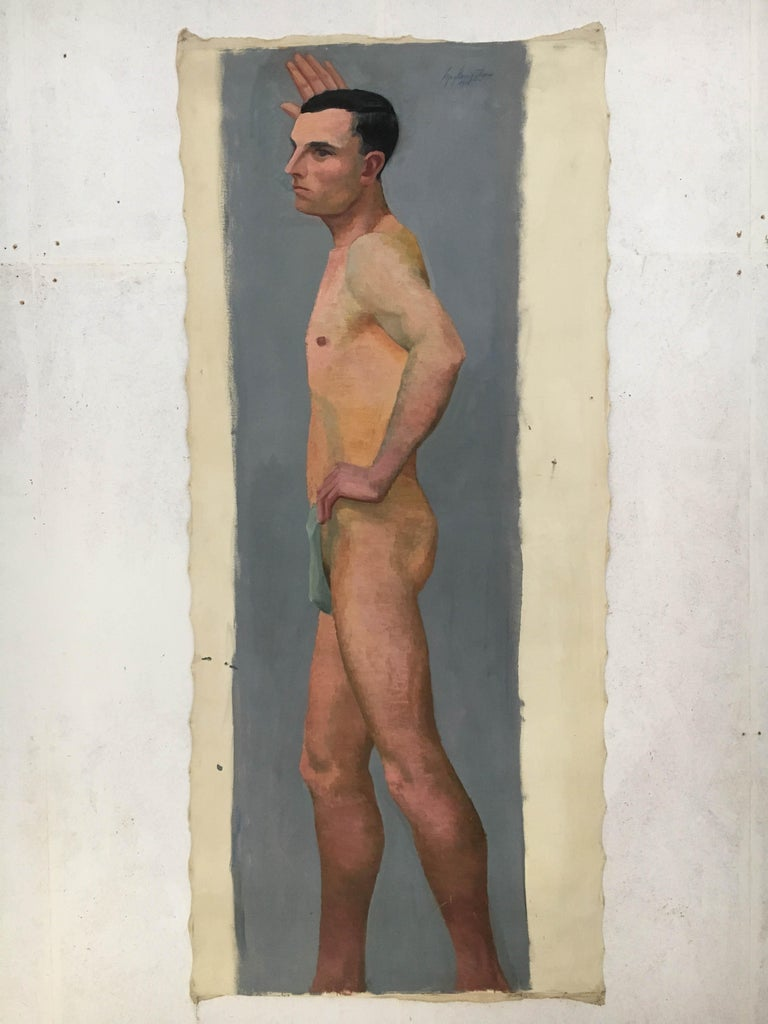 Austrian Life Size Male Painting, Vienna 1933 For Sale