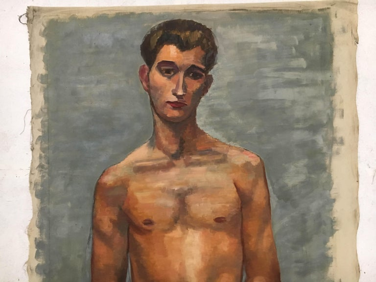 Austrian Life-Size Male Painting, Vienna, 1933 For Sale