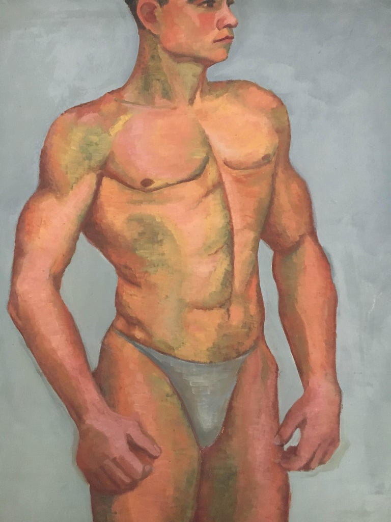 Life Size Male Painting, Vienna 1933 In Good Condition For Sale In Vienna, Vienna