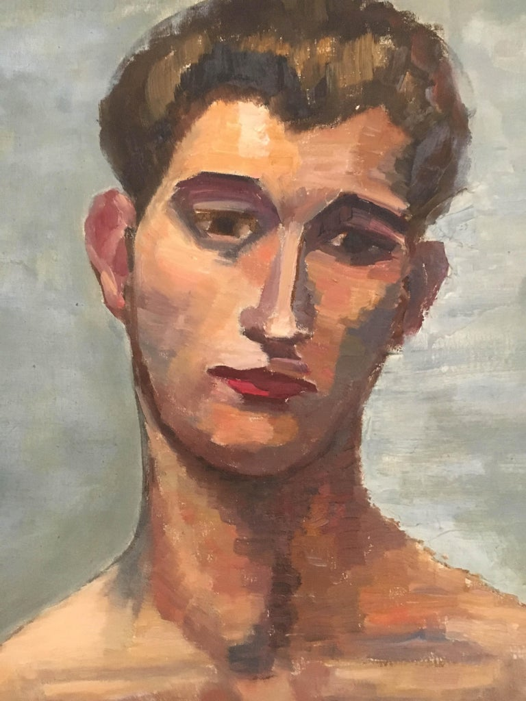 Life-Size Male Painting, Vienna, 1933 In Good Condition For Sale In Vienna, Vienna