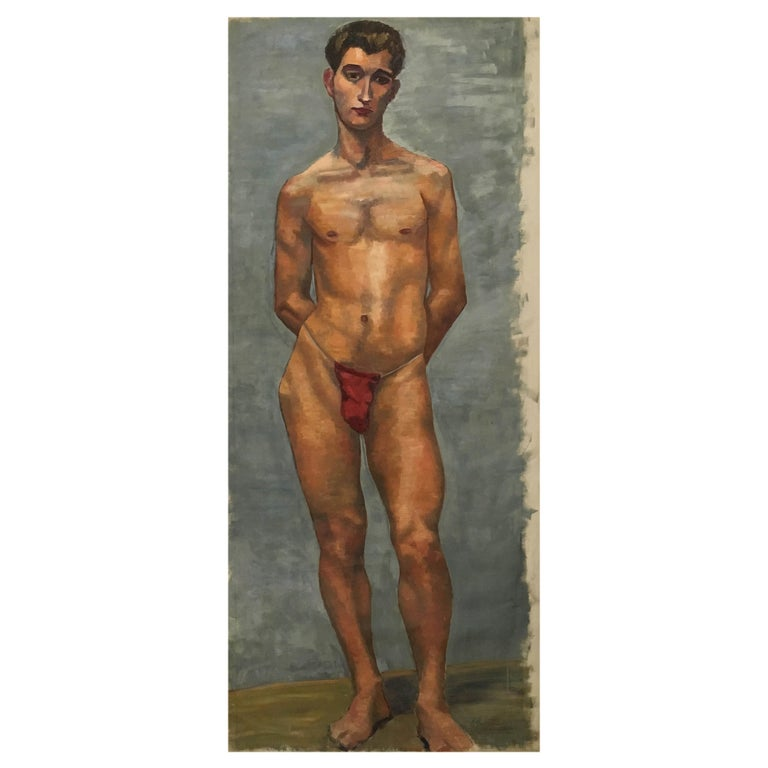 Life-Size Male Painting, Vienna, 1933 For Sale
