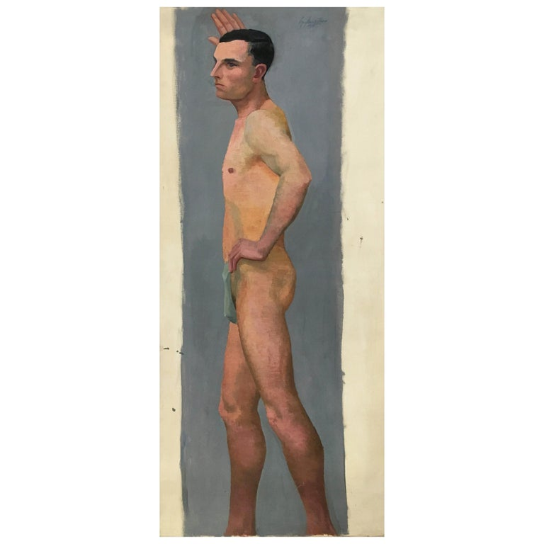 Life Size Male Painting, Vienna 1933 For Sale