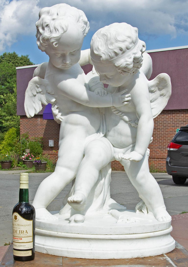 Life-Size Marble of Eros and Anteros
