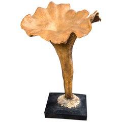 Life-Size Papier Mâché Chanterlle Mushroom