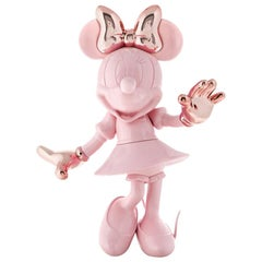 In Stock in Los Angeles, Life-Size 4.6 Ft Tall Glossy Pink Minnie, Pop Sculpture