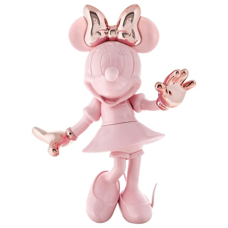 In Stock in Los Angeles, Life-Size 4.6 Ft Tall Glossy Pink Minnie, Pop Sculpture For Sale