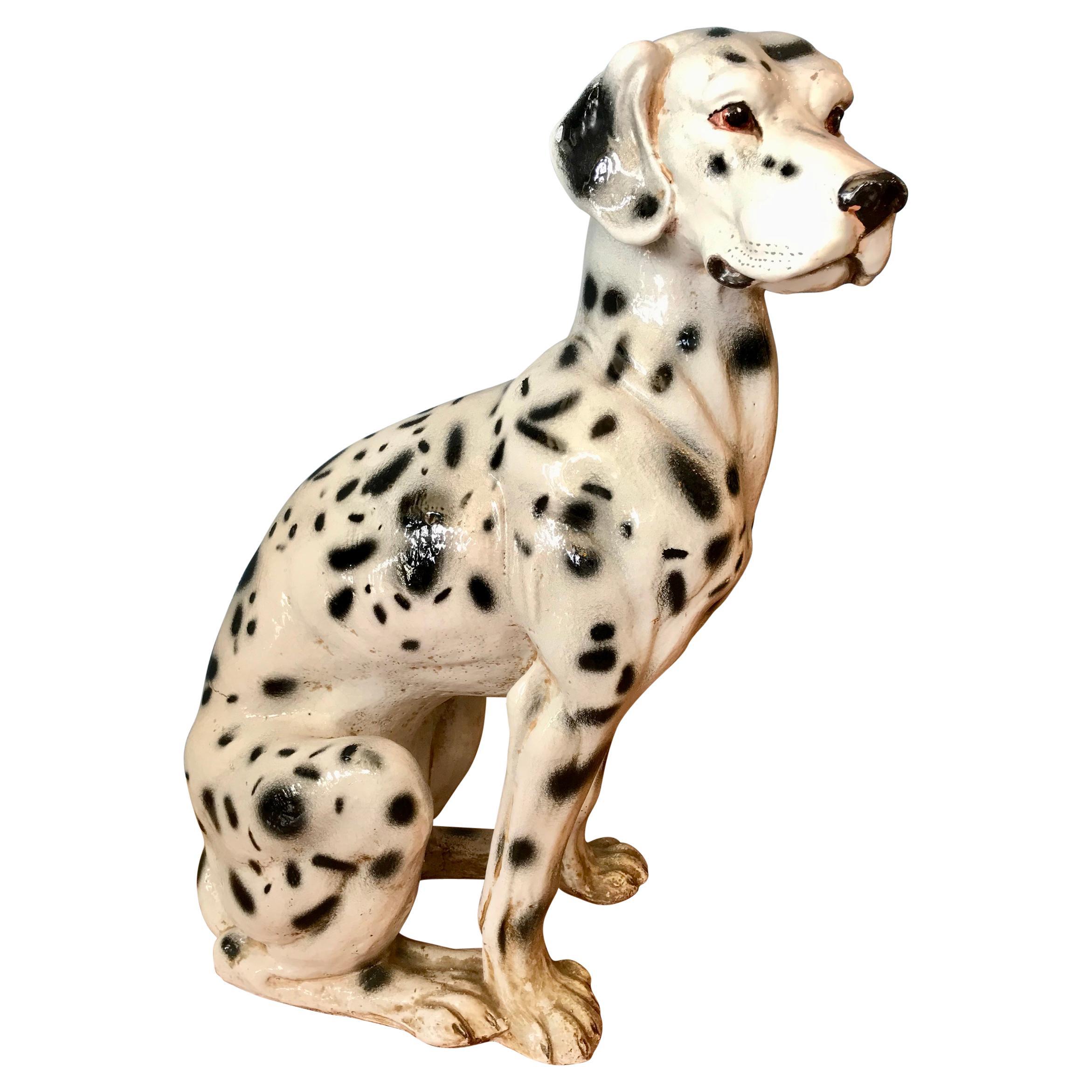 Life Size Terra Cotta Figure of a Dalmatian