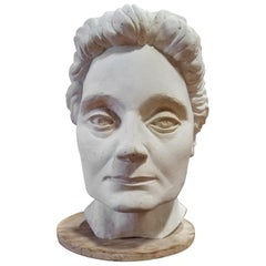 Life-Size Terracotta Bust by Herman Volz