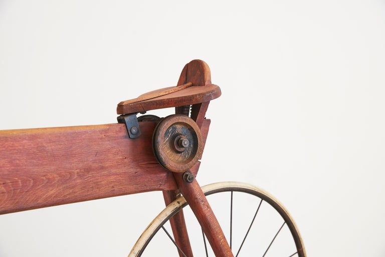 Life-Size Wood Bike In Good Condition For Sale In Los Angeles, CA