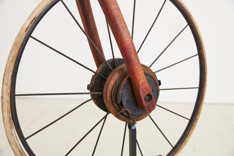 Mid-20th Century Life-Size Wood Bike For Sale