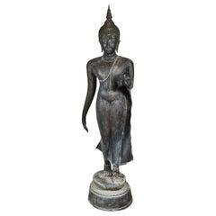 Life-Sized, Antique, Bronze, Thai Buddha