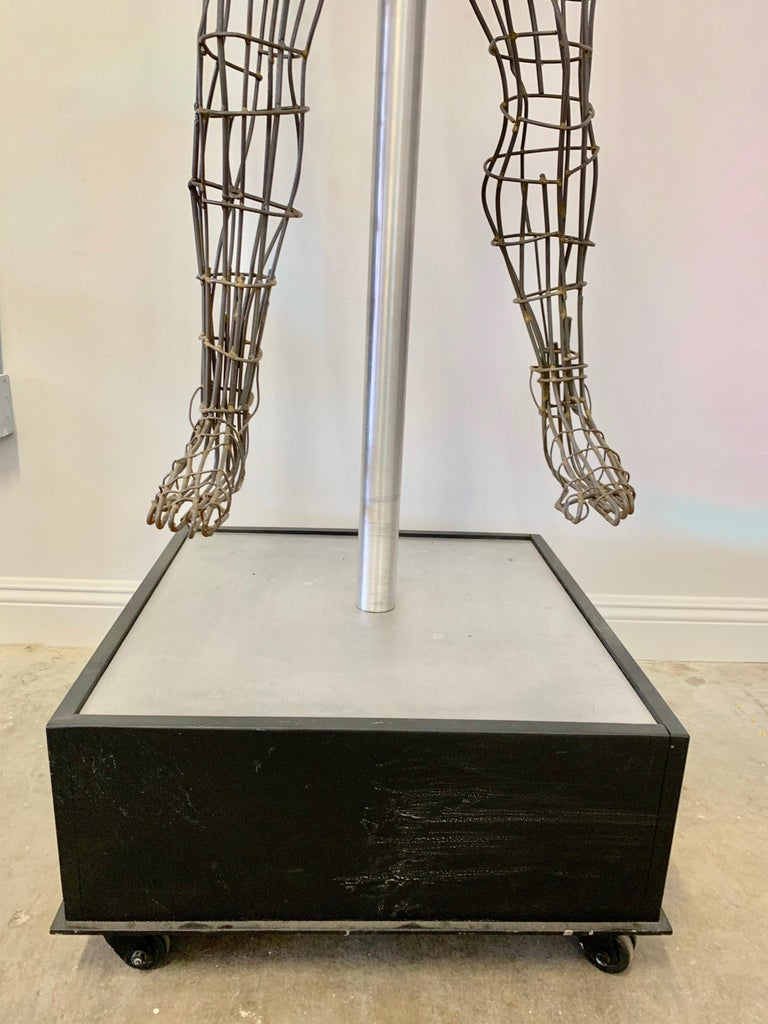 Life-Sized Figural Wire Sculpture by Bruce Gray For Sale 6