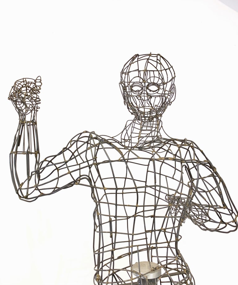 Life-Sized Figural Wire Sculpture by Bruce Gray For Sale 8