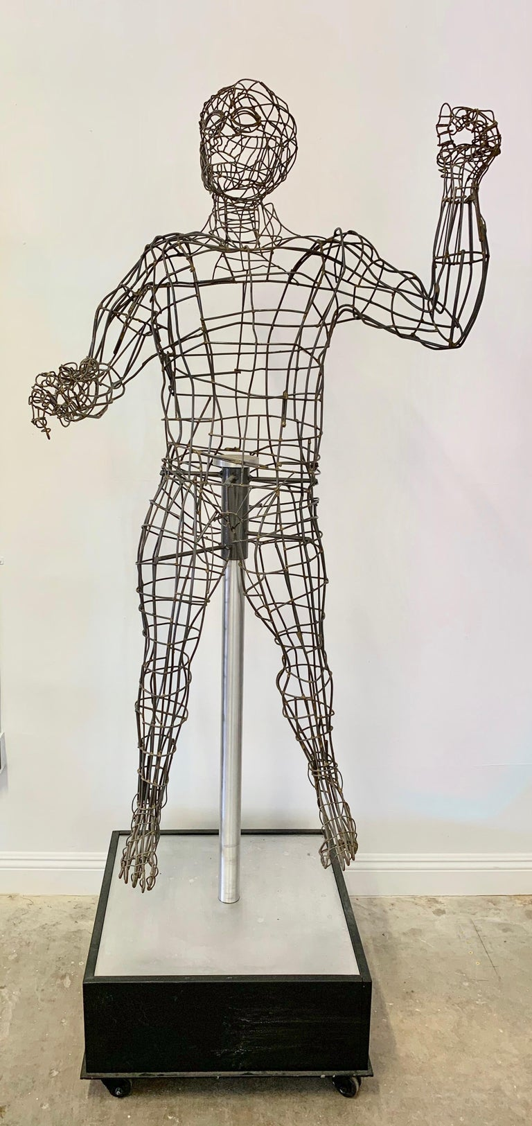 Life-Sized Figural Wire Sculpture by Bruce Gray For Sale 9