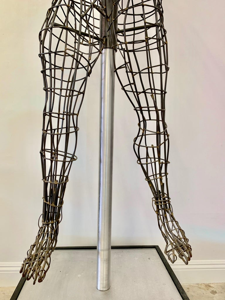 Life-Sized Figural Wire Sculpture by Bruce Gray For Sale 11
