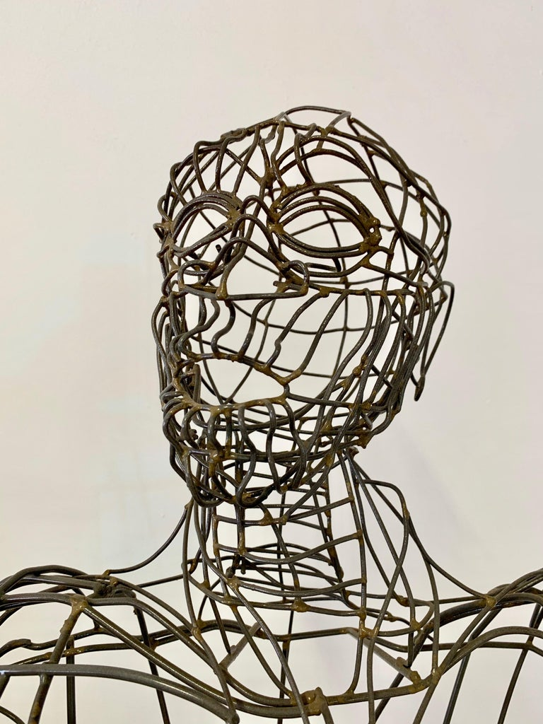 Life-Sized Figural Wire Sculpture by Bruce Gray In Excellent Condition For Sale In Los Angeles, CA