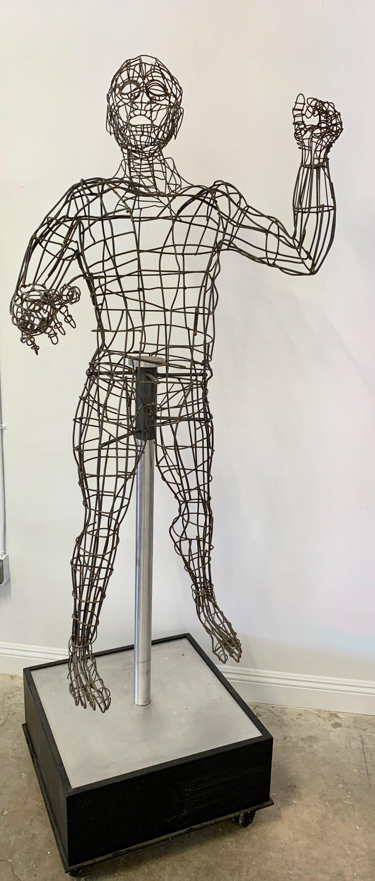 Late 20th Century Life-Sized Figural Wire Sculpture by Bruce Gray For Sale