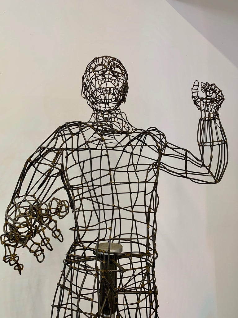 Life-Sized Figural Wire Sculpture by Bruce Gray For Sale 1