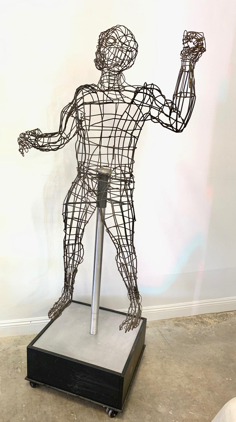 Life-Sized Figural Wire Sculpture by Bruce Gray For Sale 2