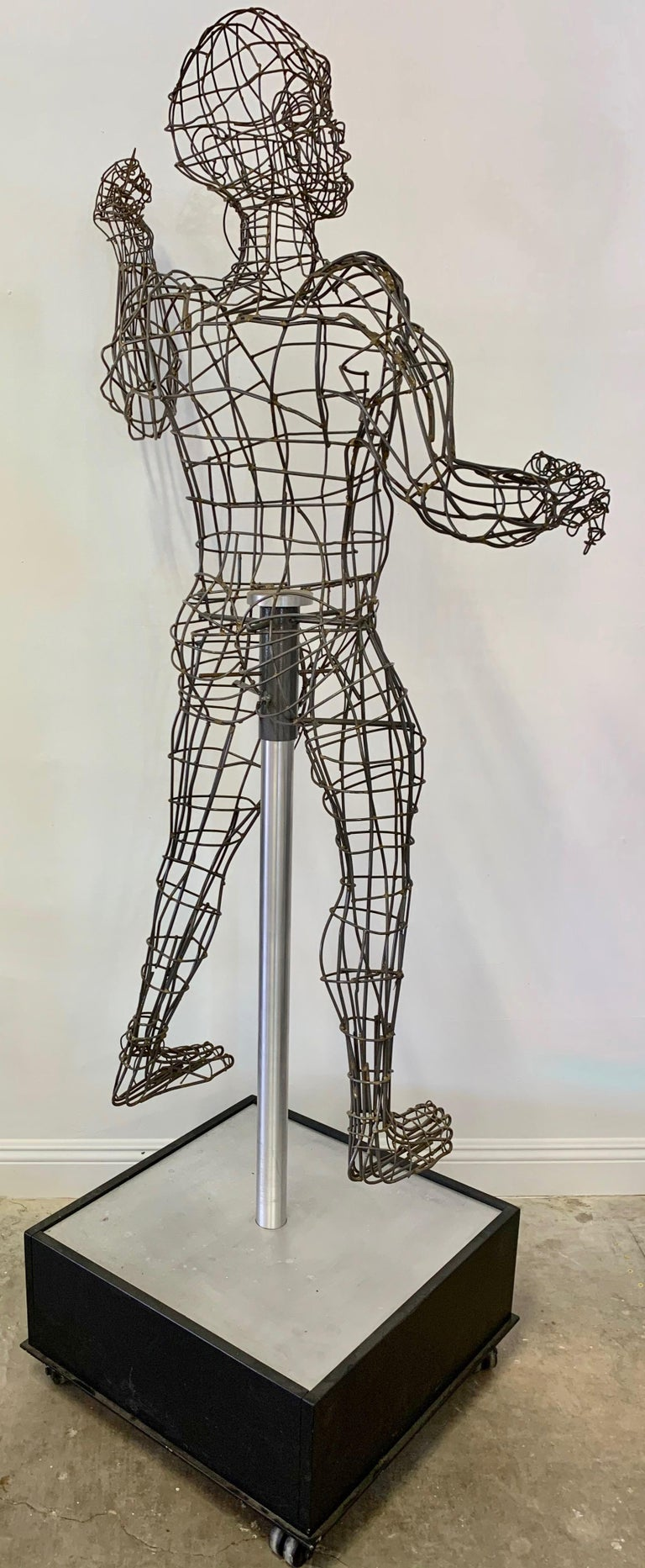 Life-Sized Figural Wire Sculpture by Bruce Gray For Sale 3