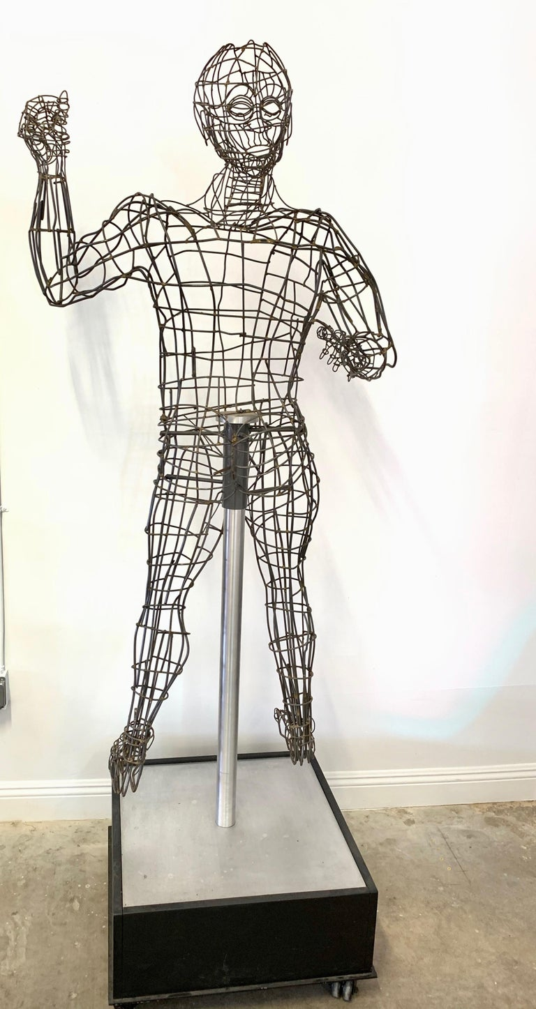 Life-Sized Figural Wire Sculpture by Bruce Gray For Sale 4