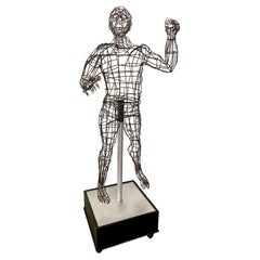 Life-Sized Figural Wire Sculpture by Bruce Gray