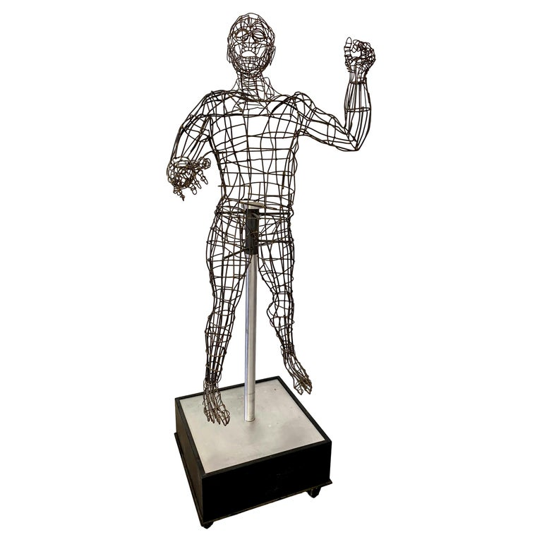 Life-Sized Figural Wire Sculpture by Bruce Gray For Sale