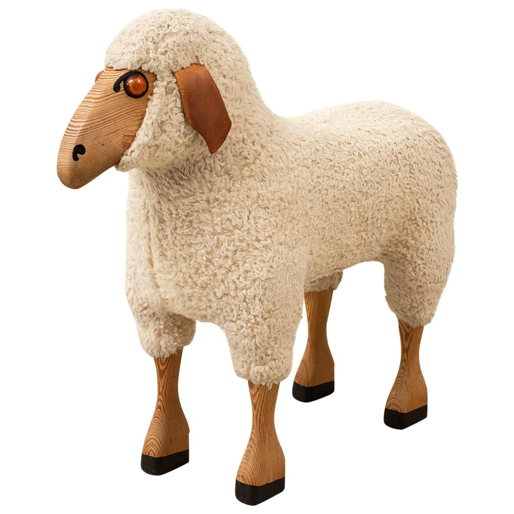 Life-Sized Sheep by Hans-Peter Krafft for Meier, Germany, 1970s