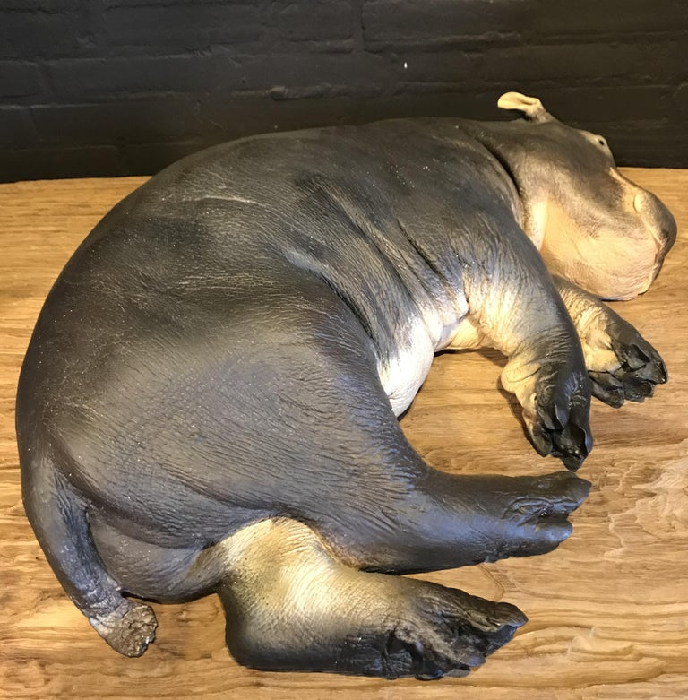 Polyester Lifelike Replica of a Hippo Calf For Sale
