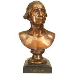 Lifesize Bronze Bust of George Washington