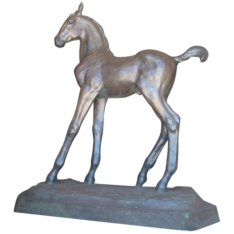 Lifesize Figure of a Horse 'Colt' For Sale